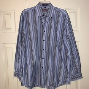 EUC Alan Flusser L/S Button Down Shirt Size M.